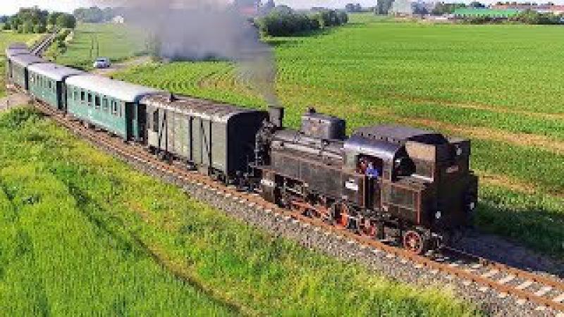 Vlak Na Kokořínsko s párou 423 0145 a 650 let města Mšena 10.6.2017