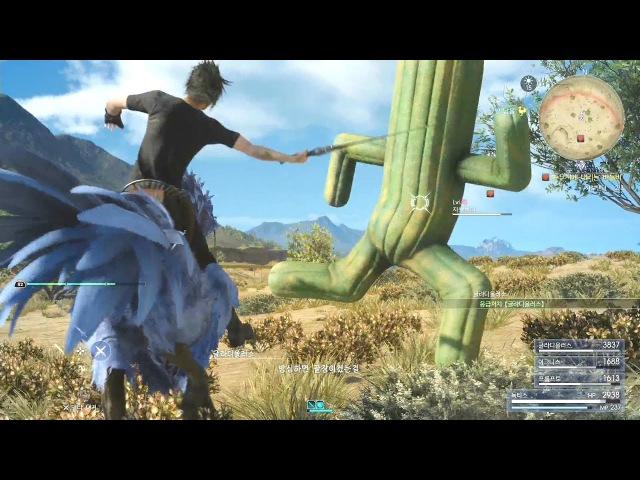 [파이널판타지15] 선인장 3마리 사보텐더를 잡아보자! (녹티스 드롭킥) Final Fantasy XV Cactuar Noc