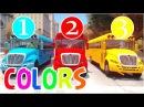 Learn COLORS Cars for Kids FUN Race Superheroes BUS in KidsZone Cartoon Nursery Rhymes