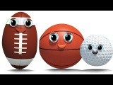 спортивный мяч  палец семьи песня  дети рифмовать  Sports Ball  Finger Family Rhyme  Baby Rhyme