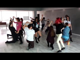 """Хастл-руэда на открытом уроке в Танцевальной мастерской """"Маруся"""""""
