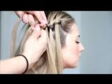 Как плести косу водопад самой себе - waterfall braid tutorial on yourself