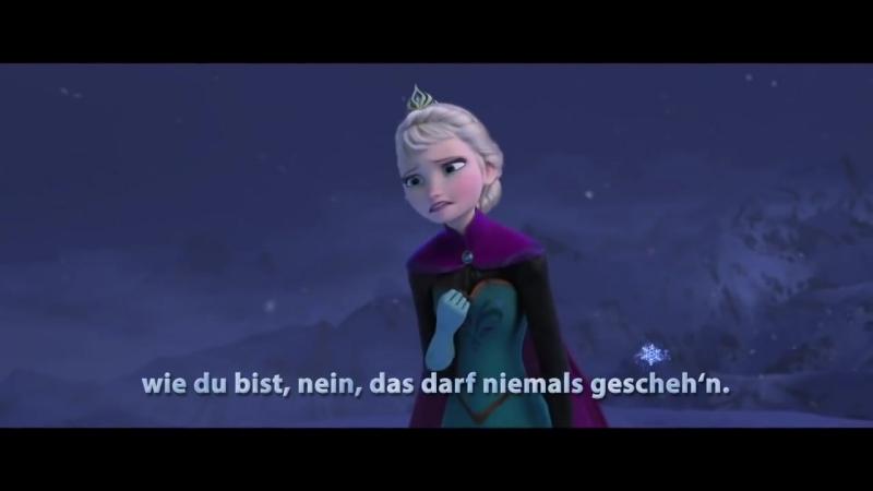 Прекрасная песня Эльзы на немецком языке (с субтитрами)