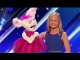 Шоу Талантов США Девочка, Которая Поет с Закрытым Ртом