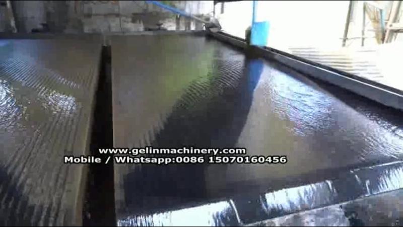 Wet type gravity equipment shaking table separating zircon ore