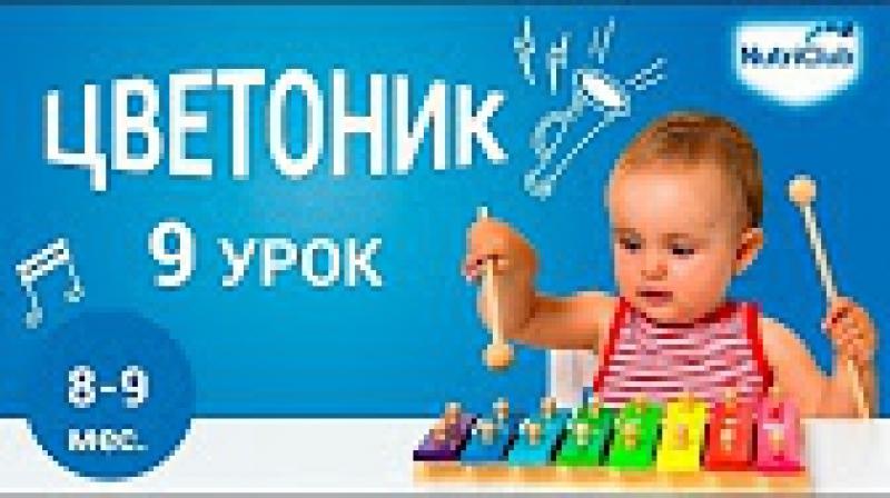 9. Учимся ходить. Развитие ребенка 8-9 месяцев по методике Цветоник. Урок 9
