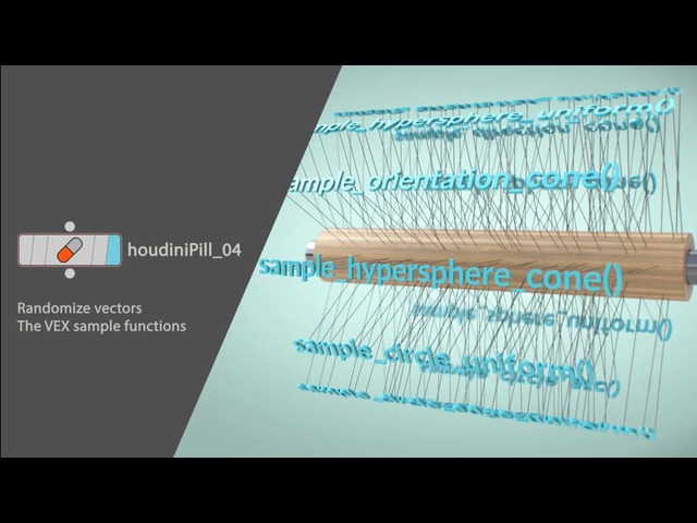 HoudiniPill_04. Random vectors using the sample functions (VEX)
