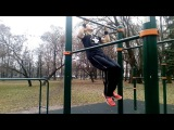 Антон Хотяшов.Training Ghetto Workout in Minsk. Тренирую трисет.