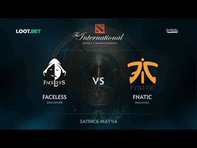 Team Faceless vs Fnatic, SEA Qualifications - The International 2017
