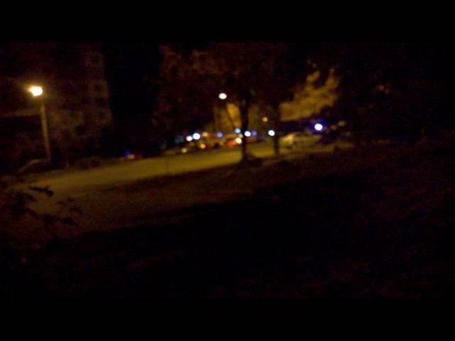 Ночной пожар 🚒 на Шоломке (ночь 🌃 на 14.10.2016)@