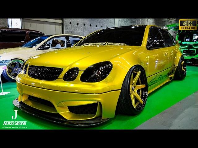 (4K)TOYOTA ARISTO VIP STYLE custom 16アリストVIPカーカスタム - 大阪オートメッセ2017