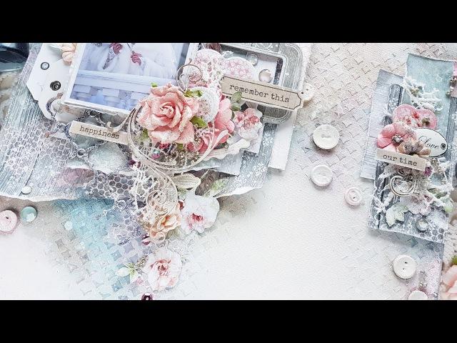 Step-by-step tutorial Wedding Shabby Mixed-media Canvas