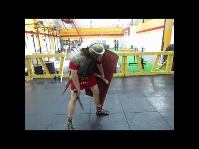 Римское фехтование легионеров - 2. Передвижение. Roman legionary fencing - 2. Movement.
