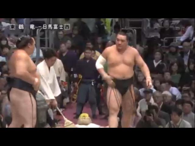 Harumafuji vs Kakuryu-28.11.15 日馬 VS 鶴竜