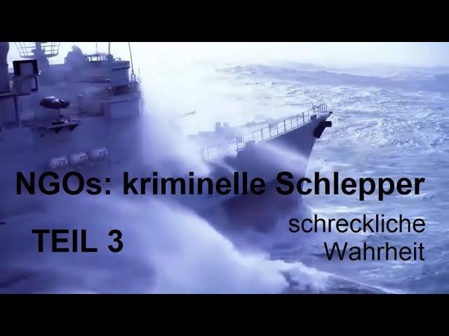 NGOs: kriminelle Schlepper TEIL 3 NGOs SIND SCHLEPPER ¦ EU-Dokument Bevölkerungsaustausch