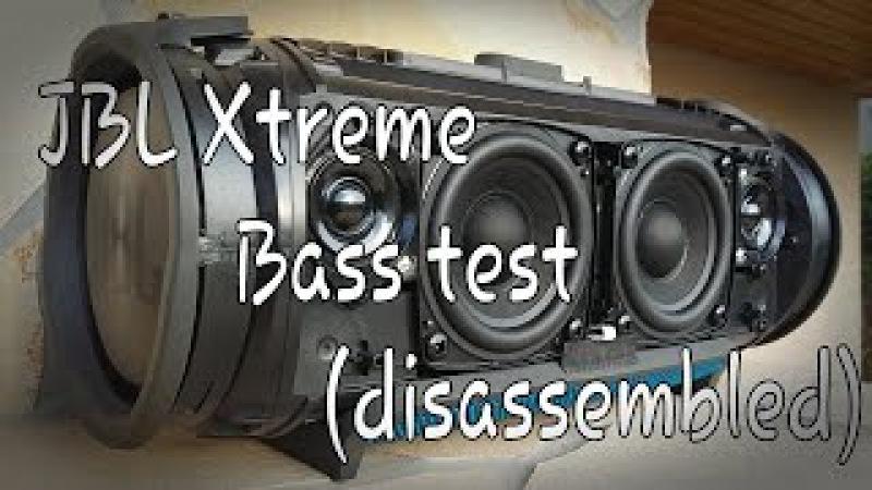 JBL Xtreme Bass test disassembled