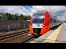 Поезда Ласточка и Сапсан на станции Химки