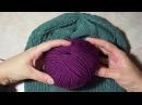 ★★★ Шапка спицами женская зимняя Уроки вязания спицами. Часть 1. ★★★