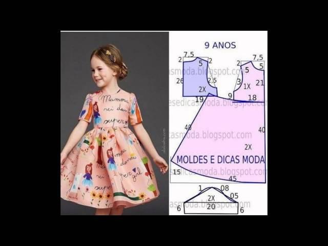 Выкройки платьев для девочек