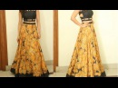 Anarkali long skirt DIY Anarkali skirt drafting, cutting and stitching step by step tutorial