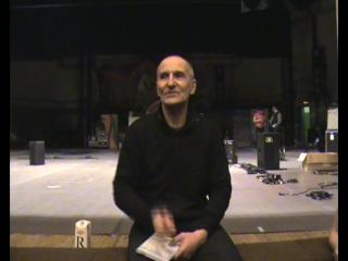 Петр Николаевич Мамонов после концерта в Зеленограде