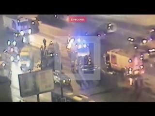 Видео с места массовой аварии на Кутузовском проспекте