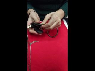 как одеть резиновую лопатку на трензель