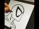 Рисуем Человека-паука.