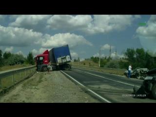 Жесткое ДТП на трассе