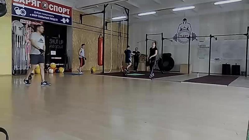 тренировка 50-40-30-20-10 броски медбола махи гирей ситап
