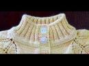 Воротник-стойка резинкой 2х2. Имитация пришивной планки.