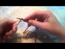 Набор петель на круговые спицы по принципу ленты Мёбиуса