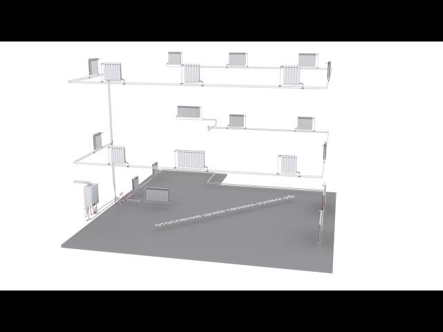 Двухтрубное отопление (схема) lde[nhe,yjt jnjgktybt (c[tvf)