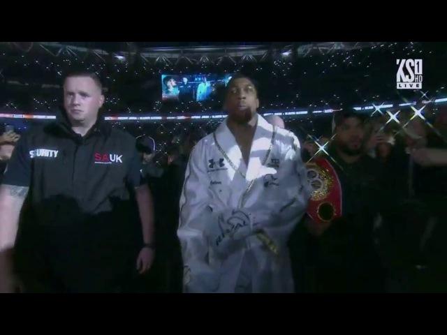 Anthony Joshua Entrance and Ringwalk vs Wladimir Klitschko HD