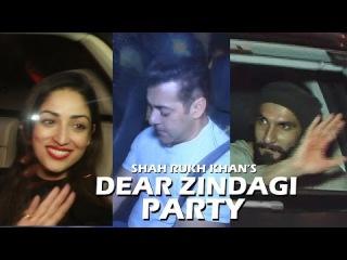 Shah Rukh Khan's DEAR ZINDAGI Party At Mannat | Salman Khan, Ranveer Singh, Shraddha Kapoor