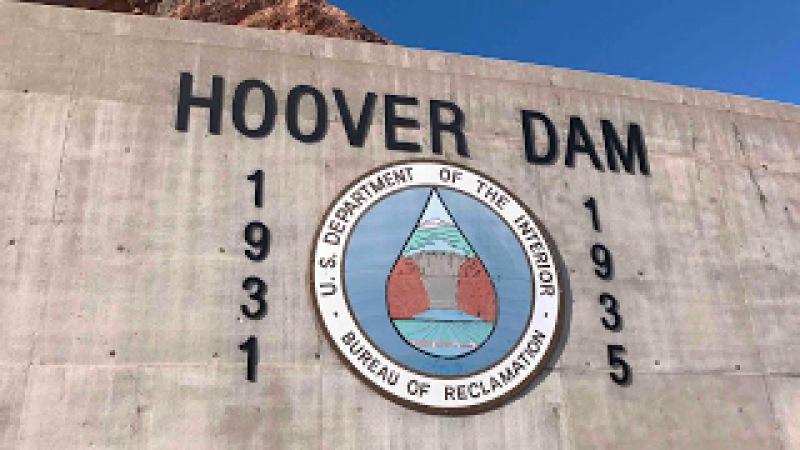 США. Дамба Гувера Лас-Вегас HOOVER DAM Las Vegas Nevada USA