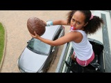 Bad Baby Tiana Giant Easter Surprise Egg Drop Test On Parents Car! Freak Daddy
