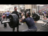 Froning, Bailey, Bridges do 90 Squat Cleans at 225lbs