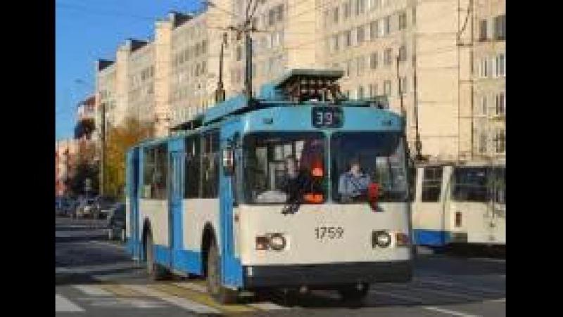 Троллейбус Санкт-Петербурга ЗиУ 682 б.1759 по маршруту №39 в парк (13.04.2017)