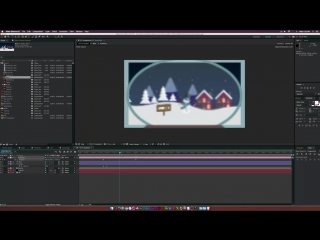 After Effects Tutorial 2D SNOW GLOBE - Christmas Motion Graphics