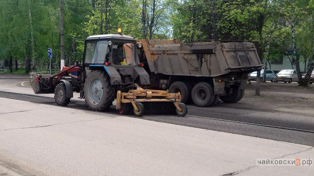 ремонт дорог, Чайковский, 2017 год