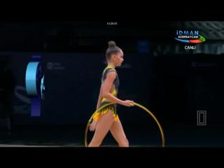 Арина Аверина обруч (многоборье) // Кубок Мира Баку 2017