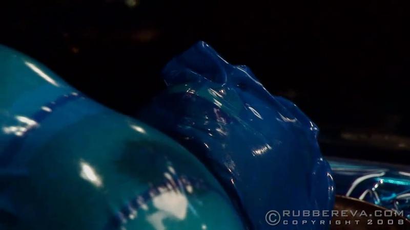 Transparent Blue Rubber Fuck Part
