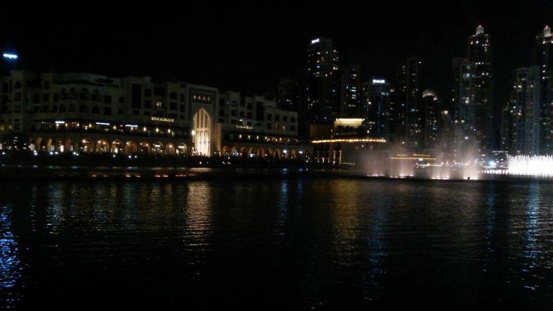 самый красивый фонтан в Дубае