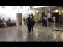 Резюме 24.04.2017 - Хиро в линию, сакада на очо назад - 1 (Михаил Чудин - Эльвира Кашкарова, урок аргентинское танго)