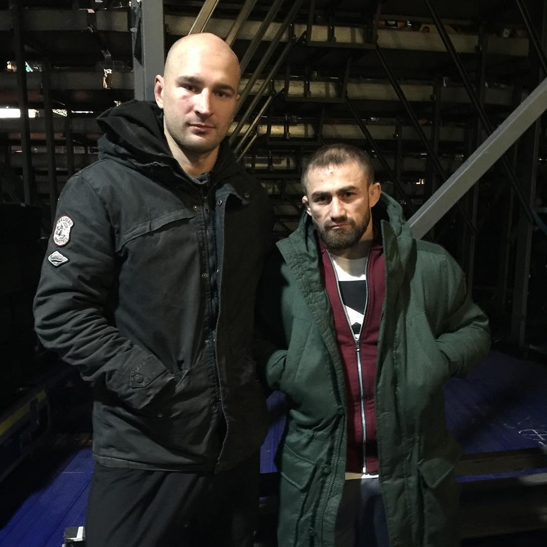 Александр Яковлев и Али Багаутинов после UFC Fight Night 99