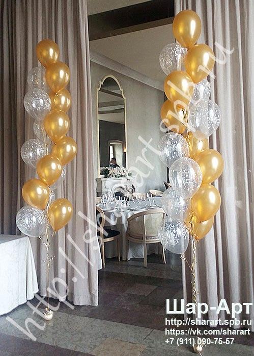 «Bellini» ресторан  и банкетный зал украшение шарами и цветами