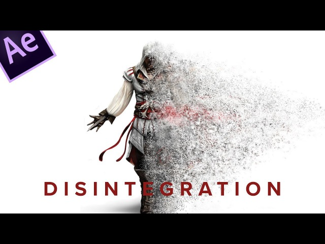After Effects Tutorial: Disintegration effect: 2 minute Tut