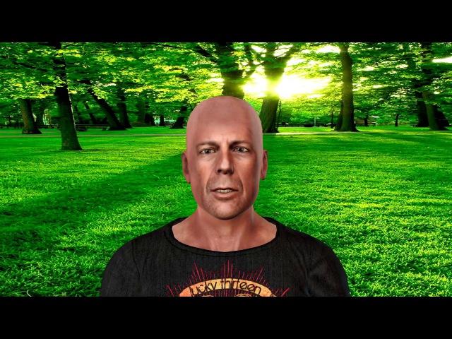 Создание 3D модели по фотографии в CrazyTalk 8 и iclone 6 Bruce Willis