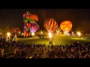 Зажигательный вечерний парад владельцев воздушных шаров. Wairarapa Balloon Festival